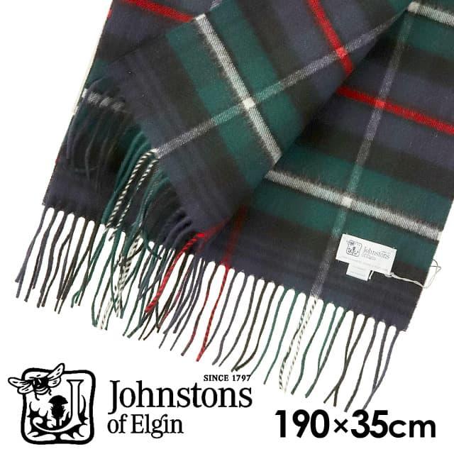 JOHNSTONS ジョンストンズ カシミア スカーフ マフラー タータンチェック マッケンジー 190×35cm WA000057-KU0309
