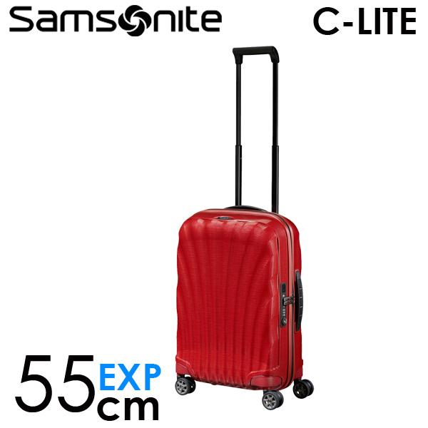 【期間限定ポイント10倍】サムソナイト C-LITE シーライト スピナー 55cm EXP チリレッド Samsonite C-lite Spinner 134679-1198 スーツケース 『送料無料(一部地域除く)』