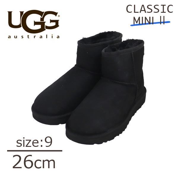 Classic 1016222 ウィメンズ Mini ブラック 9(26cm) アグ ムートンブーツ クラシックミニ II UGG