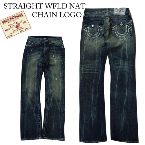 トゥルーレリジョン True Religion Brand Jeans - 28・29・33・38インチ STRAIGHT WFLD NAT CHAIN LOGO デニム Denim ジーンズ Jeans メンズ Men's