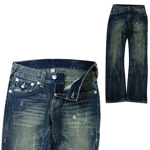 真正依靠约翰真正宗教品牌的牛仔裤-28、 29.33 和 38 英寸直 WFLD NAT 链徽标牛仔牛仔裤牛仔裤男装男人