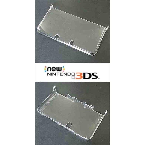 New 3DS カバー 贈与 ニンテンドー 無地 Nintendo デコベース ハード 超人気 クリア