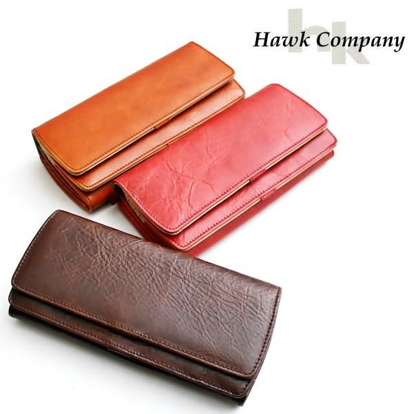 ホークカンパニー Hawk Company ダブルフラップレザーウォレット 全3色 12-3417【10P09Jan16】