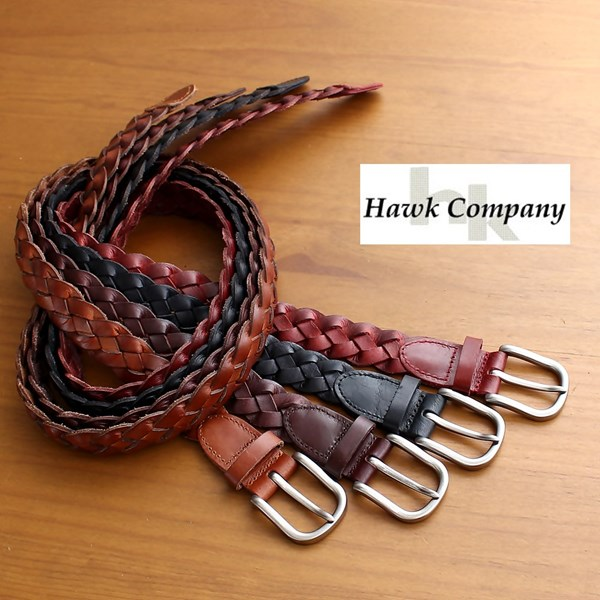 BELT BRAIDED MEN/'S GENUINE LEATHER CASUAL BELT  BLACK NEW