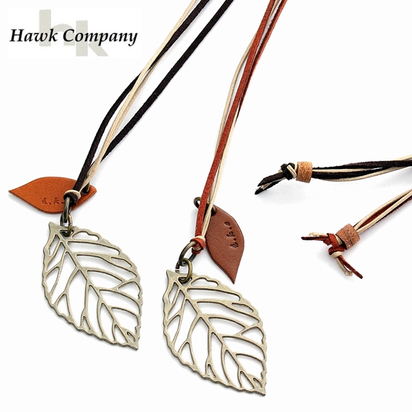 4595dc4d4e4 ... フォコン FAUCON necklace men gap Dis unisex brand accessories leather leaf  leaf motif leather lace leather strap leather cord genuine leather stylish  ...