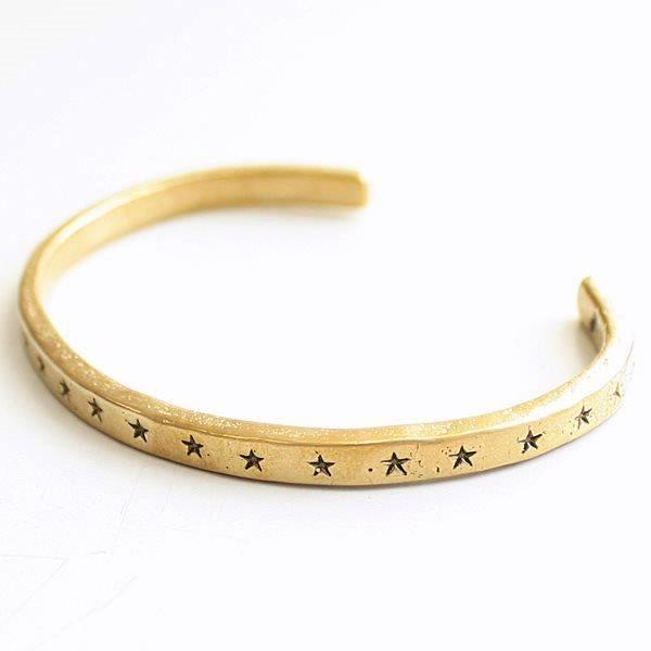 It Is Bangle Bracelet Accessories Brass Silver Gold Men Gap Dis Brand Star Pattern Patterned Stars Hawk Company Hawk Company Star Pattern Bangle