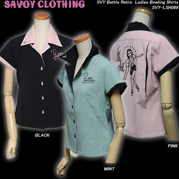 SAVOY CLOTHINGサヴォイクロージング◆SVY Bettie RetroLadies Bowling Shirts◆SVY-LSH089