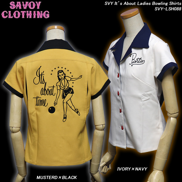 SAVOY CLOTHINGサヴォイクロージング◆SVY It's AboutLadies Bowling Shirts◆SVY-LSH088