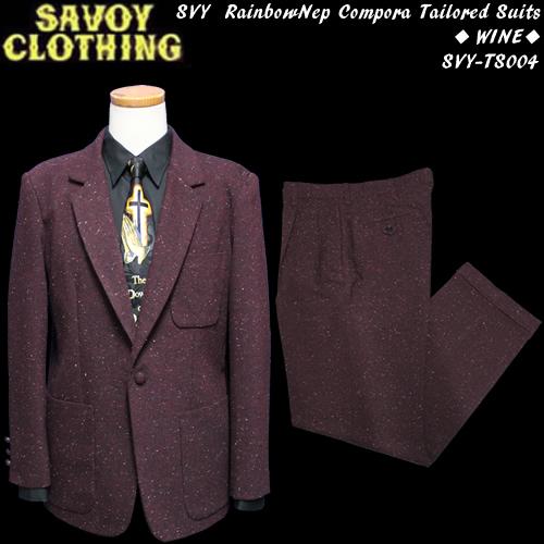 SAVOY CLOTHINGサヴォイクロージング◆SVY RainbowNep Compora Tailored Suitsレインボーネップ・コンポラスーツ◆◆WINE◆SVY-TS004