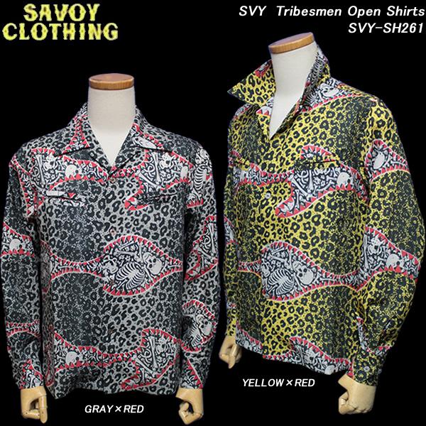 SAVOY CLOTHINGサヴォイクロージング◆SVY Tribesmen Open Shirts◆SVY-SH261