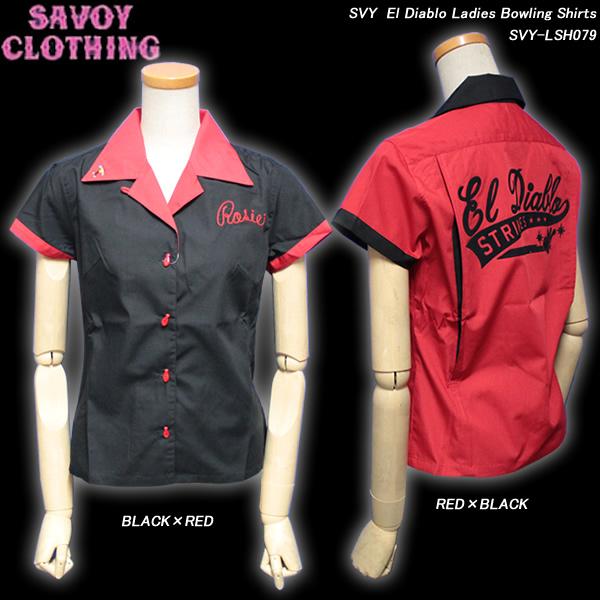 SAVOY CLOTHINGサヴォイクロージング◆SVY El Diablo LadiesBowling Shirts◆SVY-LSH079