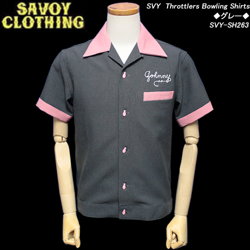 SAVOY CLOTHINGサボイクロージング◆SVY Throttlers Bowling Shirts◆◆グレー◆SVY-SH263