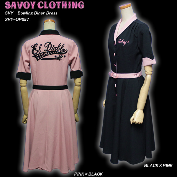 SAVOY CLOTHINGサボイクロージング◆SVY Bowling Diner Dress◆SVY-OP097