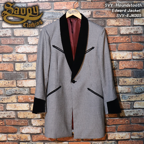 SAVOY CLOTHINGサボイクロージング◆SVY Edward Jacket◆◆Houndstooth◆SVY-EJK005