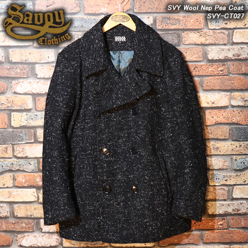 SVY CLOTHINGサボイクロージング◆SVY Wool Nep Pea Coat◆SVY-CT027