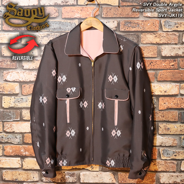 SAVOY CLOTHINGサボイクロージング◆SVY Double Argyle Reversible Sport Jacket◆◆アーガイル・リバーシブル スポーツジャケット◆SVY-JK119