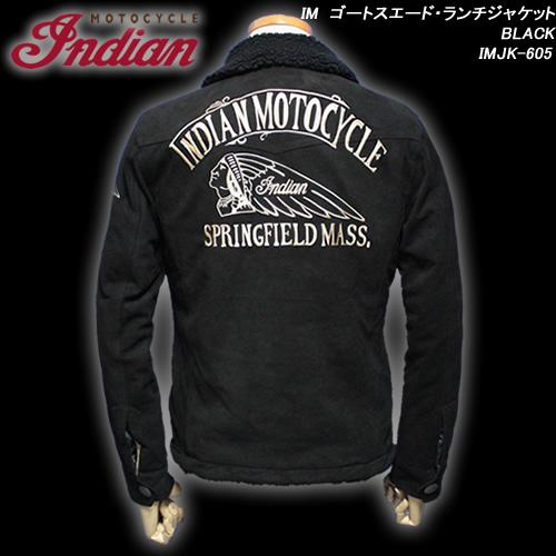INDIAN MOTOCYCLEインディアン・モトサイクル◆IM ゴートスエード・ランチジャケット◆◆BLACK◆IMJK-605