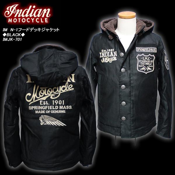 INDIAN MOTOCYCLEインディアン・モトサイクル◆IM N-1フードデッキジャケット◆◆BLACK◆IMJK-701