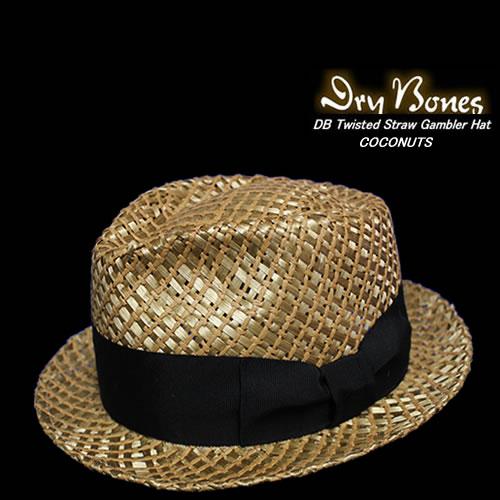 DRY BONESドライボーンズギャンブラーハットストローハット夏用ハット BONESドライボーンズ Twisted Straw DCH-309 Gambler 新生活 Hat 限定価格セール COCONUTS
