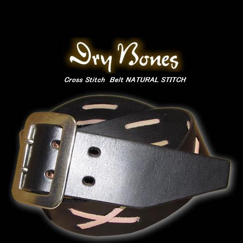 ◆DRY BONESドライボーンズCross Stitch BeltNATURAL STITCH