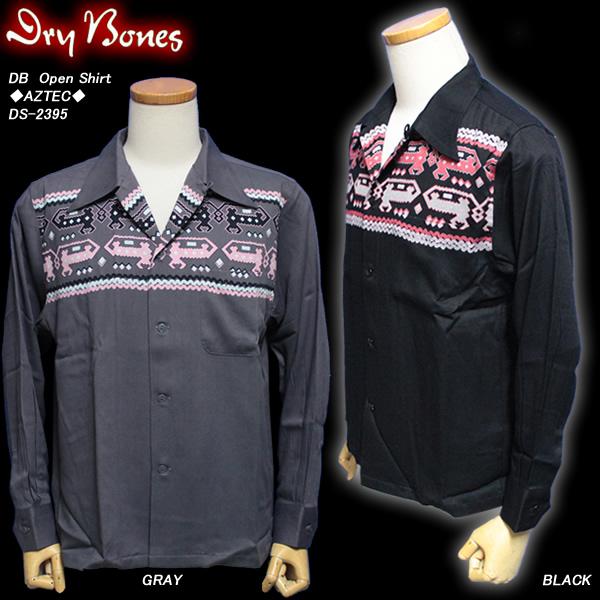 DRY BONESドライボーンズ◆DB Open Shirt◆◆AZTEC◆DS-2395
