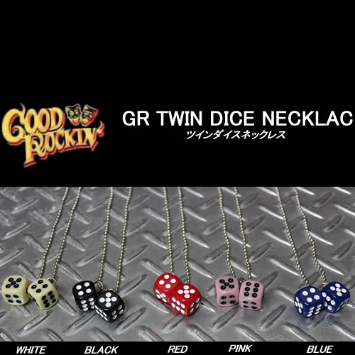 GOOD 2020A W新作送料無料 ROCKIN'グッドロッキンサイコロネックレスツインダイス ネックレスロカビリーロックンロール50'S ROCKIN'グッドロッキン NECKLACE DICE 最新 TWIN