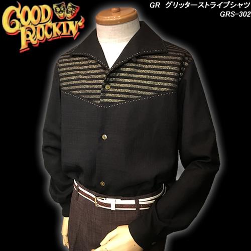 GOOD ROCKIN'グッドロッキン◆GR グリッターストライプシャツ◆GRS-302
