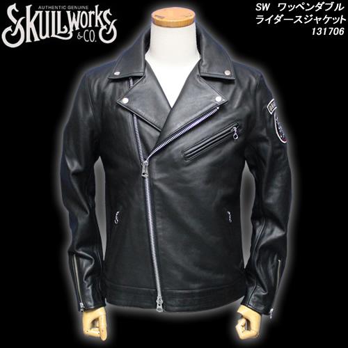 SKULL WORKSスカルワークス◆SW ワッペンダブルライダースジャケット◆131706