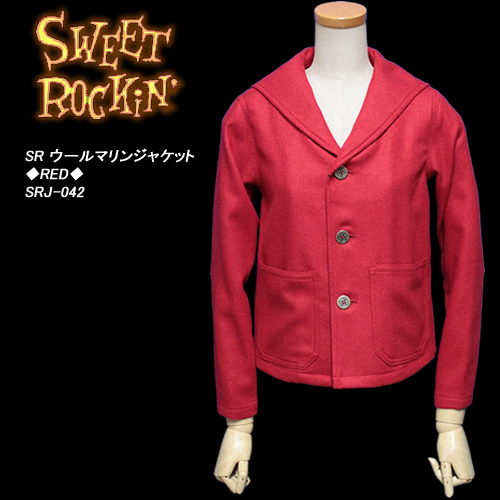 SWEET ROCKIN'スウィートロッキン◆SR ウールマリンジャケット◆◆RED◆SRJ-042