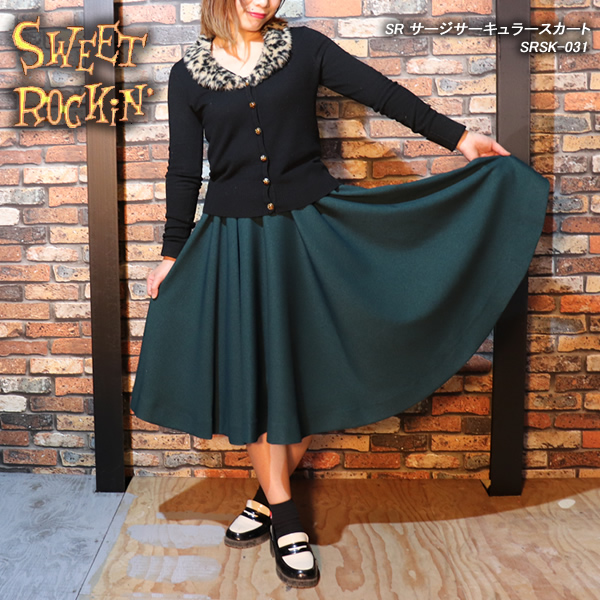 SWEET ROCKIN'スウィートロッキン◆SR サージサーキュラースカート◆SRSK-031