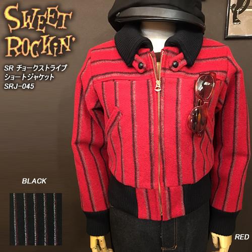 SWEET ROCKIN'スウィートロッキン◆SR チョークストライプショートジャケット◆SRJ-045