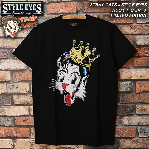 ◆STRAY CATS×STYLE EYES◆◆ROCK T-SHIRTS◆◆LIMITED EDITION◆SE78299