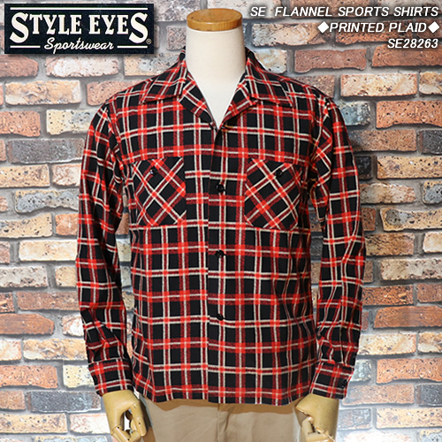 STYLE EYESスタイルアイズ◆SE FLANNEL SPORTS SHIRTS◆◆PRINTED PLAID◆SE28263