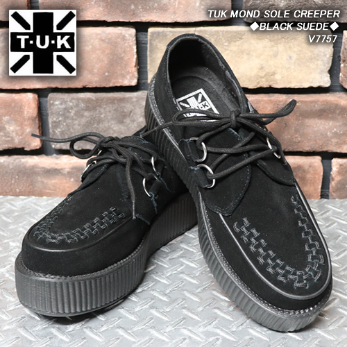TUKティーユーケー◆TUK MOND SOLE CREEPER◆◆BLACK SUEDE◆V7757