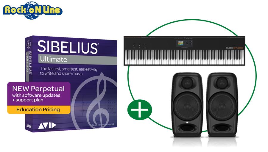 Sibelius Ultimate アカデミック + SL88 STUDIO + IK Multimediaスピーカー 譜面作成DTMスターターセット【モニタースピーカー】【MIDIキーボード】【DAW】【初心者】