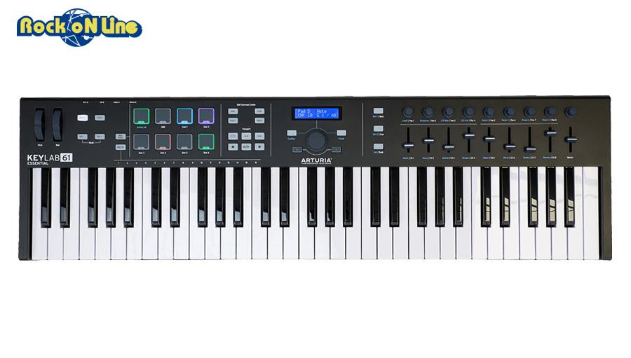 【クーポン配布中!】Arturia(アートリア) KeyLab Essential 61 BK【MIDIコントローラー】【ソフトシンセ】
