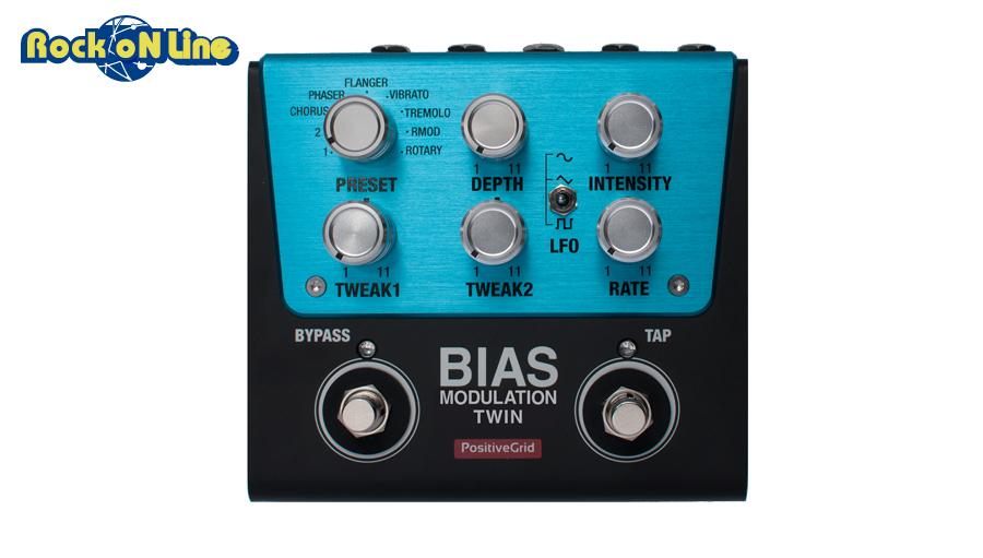 【当店限定!エントリーで最大P10倍+クーポン!】Positive Grid(ポジティブ グリッド) BIAS Modulation Twin【ギターエフェクター】