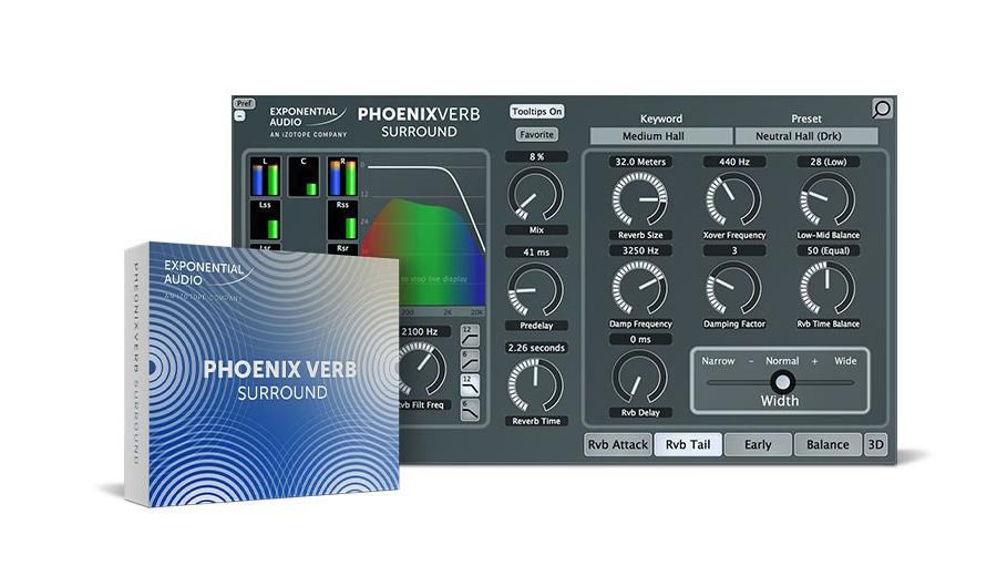 Exponential Audio(エクスポネンシャル・オーディオ) PhoenixVerb Surround【※シリアルPDFメール納品】【DTM】【プラグインエフェクト】