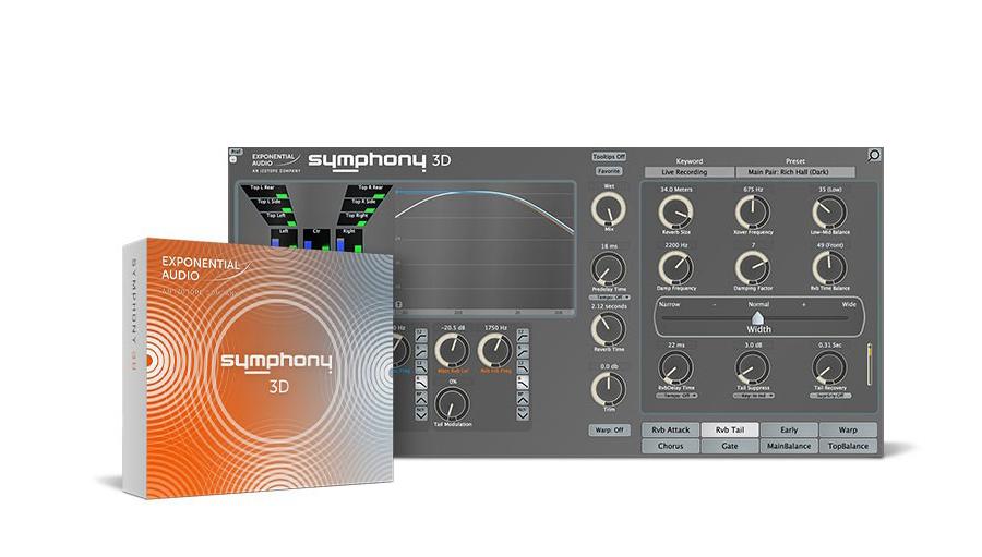Exponential Audio(エクスポネンシャル・オーディオ) Symphony 3D【※シリアルPDFメール納品】【DTM】【プラグインエフェクト】