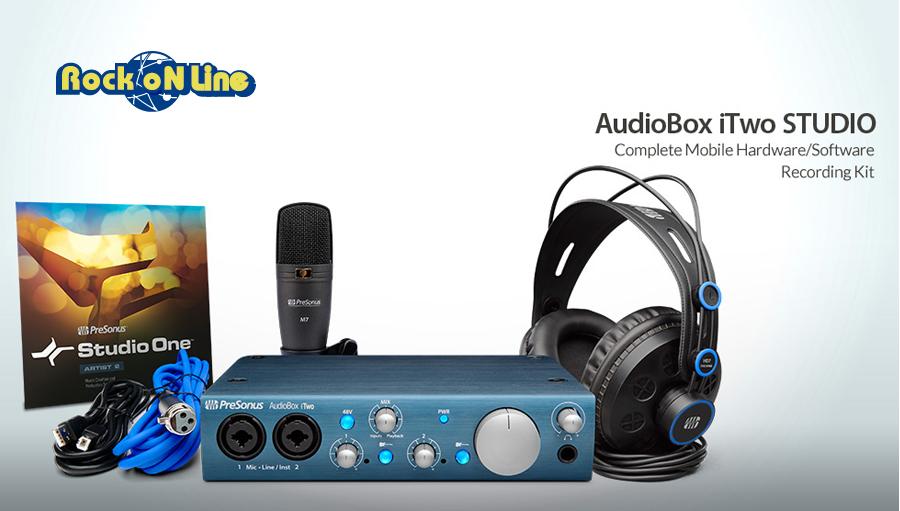 【クーポン配布中!】PreSonus(プリソーナス) AudioBox iTwo Studio【DTM】【オーディオインターフェイス】