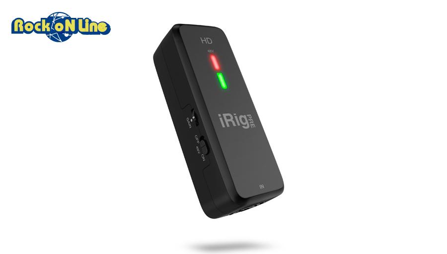【クーポン配布中!】IK Multimedia(アイケーマルチメディア) iRig Pre HD【DTM】【オーディオインターフェイス】【iPad/iOS対応】