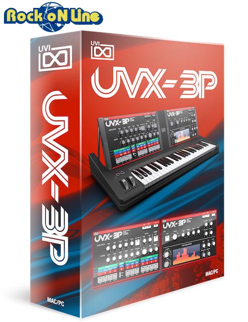 UVI(ユーブイアイ) UVX-3P【※シリアルPDFメール納品】【DTM】【シンセサイザー】