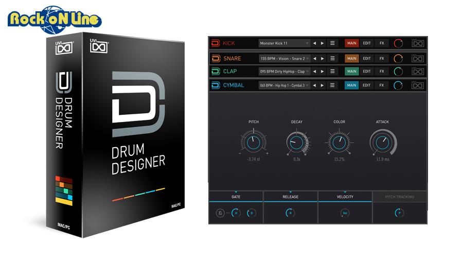 【クーポン配布中!】UVI(ユーブイアイ) Drum Designer【※シリアルPDFメール納品】【DTM】【リズム音源】