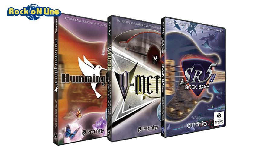 【クーポン配布中!】Prominy(プロミニー) Hummingbird & V-METAL & SR5 Rock Bass 2 スペシャルバンドル【3/15発売!イントロ特価キャンペーン品】【DTM】【ソフトシンセ】【ギター音源】