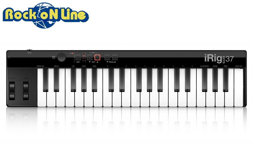 【クーポン配布中!】IK Multimedia(アイケーマルチメディア) iRig Keys 37(USBモデル)【DTM】【MIDIキーボード】
