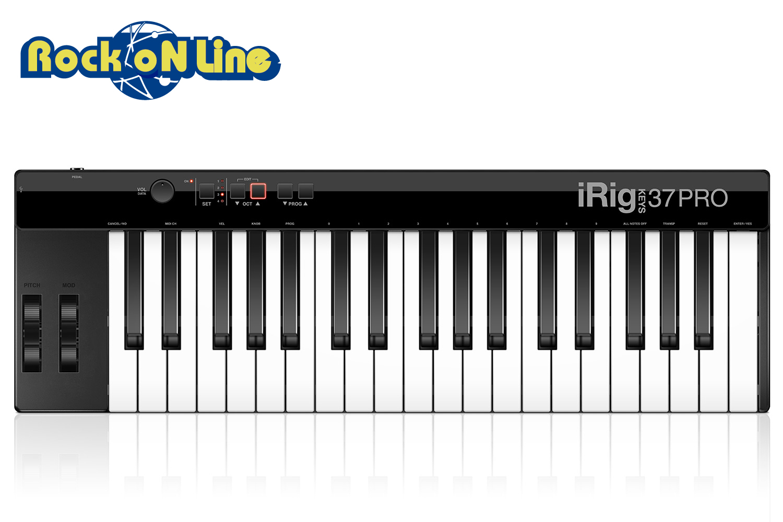 【クーポン配布中!】IK Multimedia(アイケーマルチメディア) iRig Keys 37 PRO(USBモデル)【DTM】【MIDIキーボード】