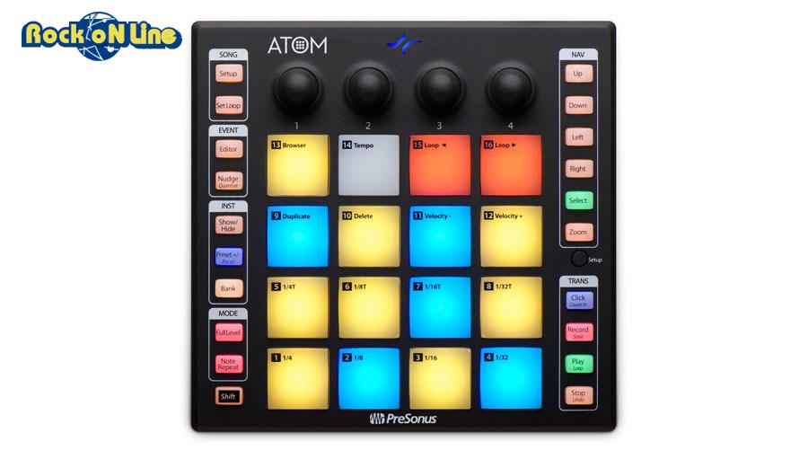【クーポン配布中!】PreSonus(プリソーナス) ATOM【DTM】【MIDIコントローラー】