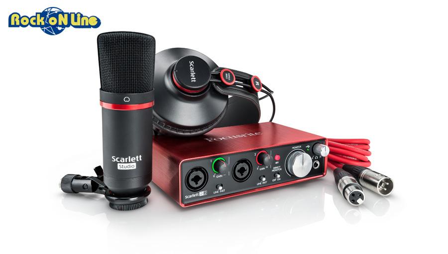 【クーポン配布中!】Focusrite(フォーカスライト) Scarlett 2i2 Studio Pack (gen2)【DTM】【オーディオインターフェイス】