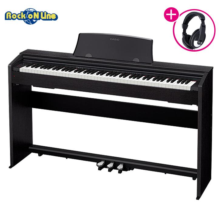 【クーポン配布中!】CASIO(カシオ) PX-770BK(ブラック)【RockoN限定KIKUTANIヘッドホンプレゼント!】【電子ピアノ】【88鍵盤】