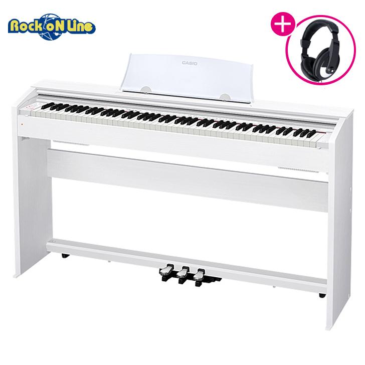 【クーポン配布中!】CASIO(カシオ) PX-770WE(ホワイト)【RockoN限定KIKUTANIヘッドホンプレゼント!】【電子ピアノ】【88鍵盤】